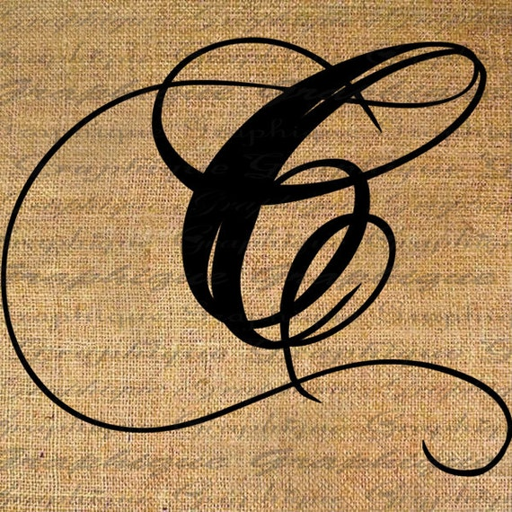 Items similar to monogram initial letter c digital collage