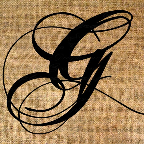 Items Similar To Monogram Initial Letter G Digital Collage