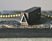 Vintage Letterpress Type Greek Letter Delta Drilled and Polished for Jewelry Making Unisex Pendant