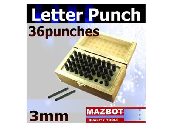 3mm Mazbot Letter Number Punch Tool Set  - LP2345W3