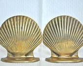 Brass Seashell / Clam shell Bookends