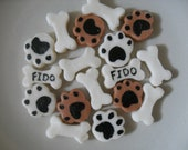 Puppy Paws and Dog Bones Mints -6 Dozen Cream Cheese Mints- Baby Showers - Birthdays- Special Occasions - Parties