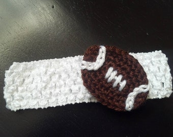 Crochet football Baby Girl footballball headband for New born, Baby girl Headband Photography Prop - U Pick own Headband Color
