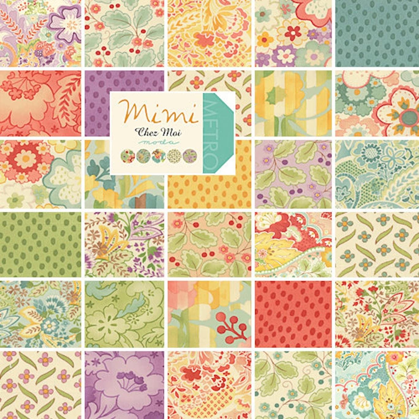 Moda Mimi Charm Pack 42 5 Squares Precut Fabric By