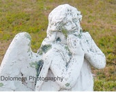 Fine Art Photograph, An Angel To Watch Over Me, 5x7 or 8x10 Color Print, Guardian Angel, Nature, Lichen, Decoration, Prayer, Christian