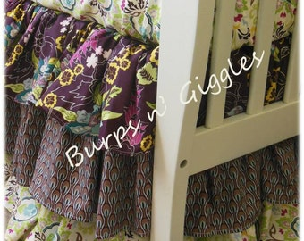 3 Tiered Ruffled Bed Skirt Dust Ruffle... Your Choice of Prints