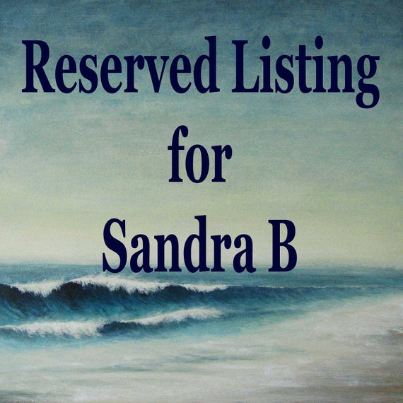 Reserved for Sandra set of three paintings