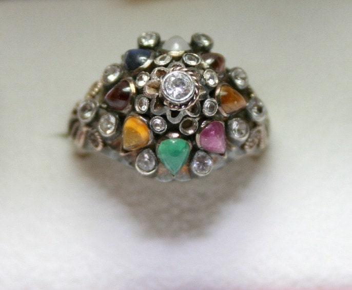 vintage thai 14k gold princess ring pre owned