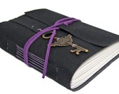 Black Vegan Faux Leather Journal