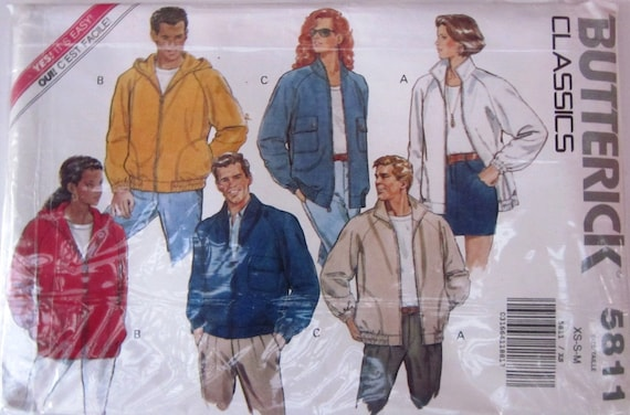 Butterick 5811 Classic Jacket Sewing Pattern Chest Bust 30-40
