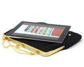 iPad case - BLACK GOLD / SILVER - Duchess Case for iPad