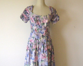 Pastel Watercolor House of Bianchi Floral Dress