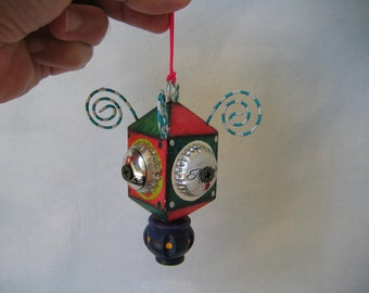 Hanging Found Object Sculpture / Ornament 2, by Fig Jam Studio