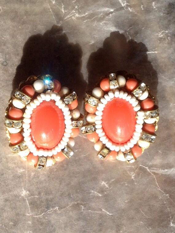 Hattie Carnegie Earrings Wired VIntage Jewelry