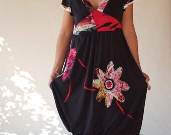 Black V-neck women dresses/little black dresses/holiday dresses/jersey tunics/prom dress