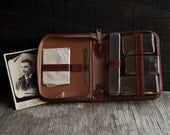 Vintage Toiletry Travel Set - Leather Case - Tommy Traveler