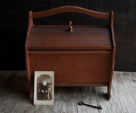 Wooden Sewing Box Knitting Craft Storage
