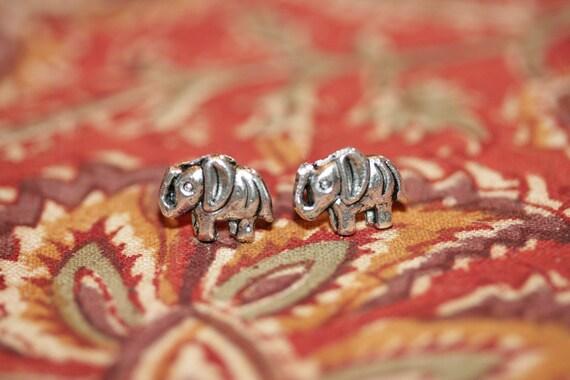 button elephant earrings