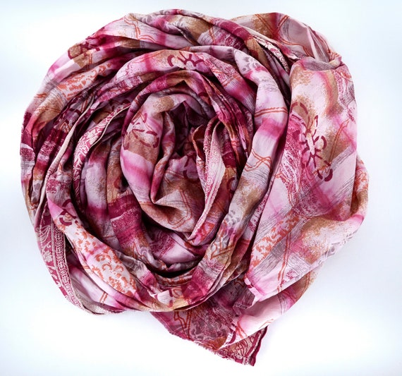 Silk Scarf Recycled accesories Silk Scarve Woman Rf
