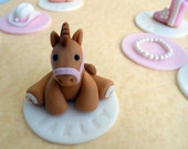 COWGIRL DELUXE SET. Edible Cupcake Toppers