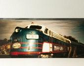 "PHOTO Block ' ZEPHYR '  Mini Art Photo of the MN Zephyr Train 6"" x 2.5"" x .75"""