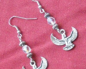 Isis Dangle Earrings with Crystals