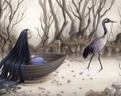 The Crane's Captive Print