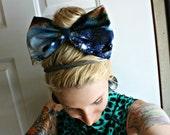 XL Galaxy Star Gazer Hair Bow