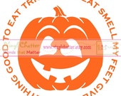 Trick or Treat Smell My Feet Halloween DIY Iron on Decal