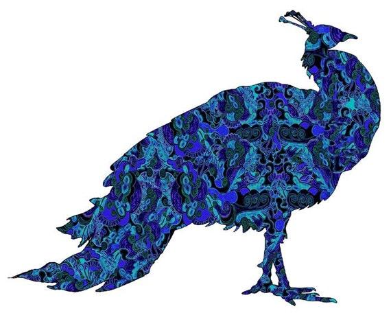 peacock art painting, peacock art poster, peacock wall art, bluebird, blue bird wall art, bird wall art, peacock poster, royal blue
