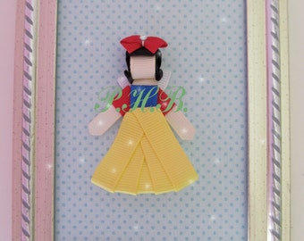 """Beautiful """"Snow White 2"""" Princess Hair Clip-- Inspired by Disney-- Birthdays, Baby Showers, Party favor"""