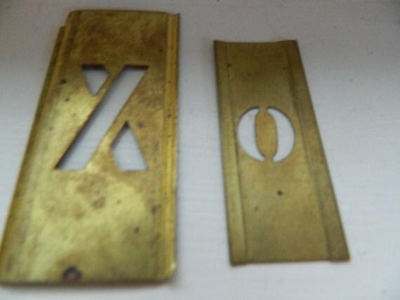 Vintage Brass Stencils Letters XO