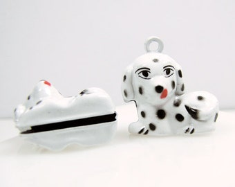 3-D, Copper Enameled  Dalmatian Puppy Bell for Pet Collar, Qty 1