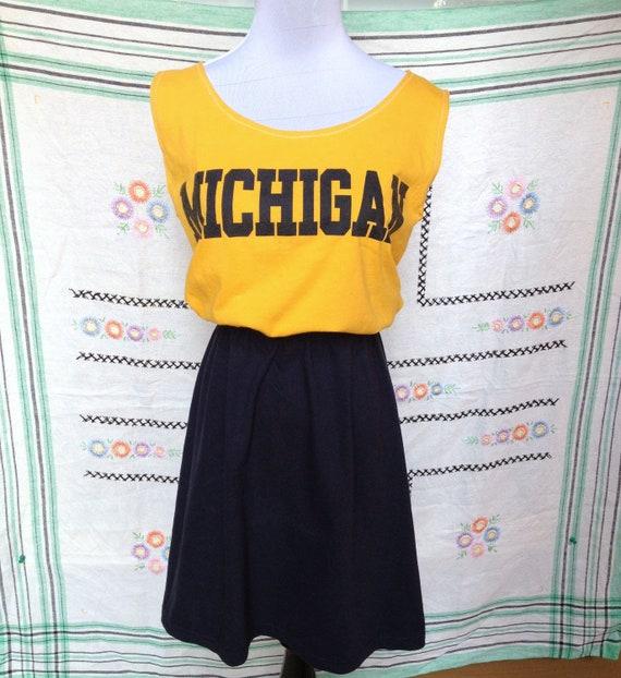 University of Michigan Game Day T Shirt Tee Dress
