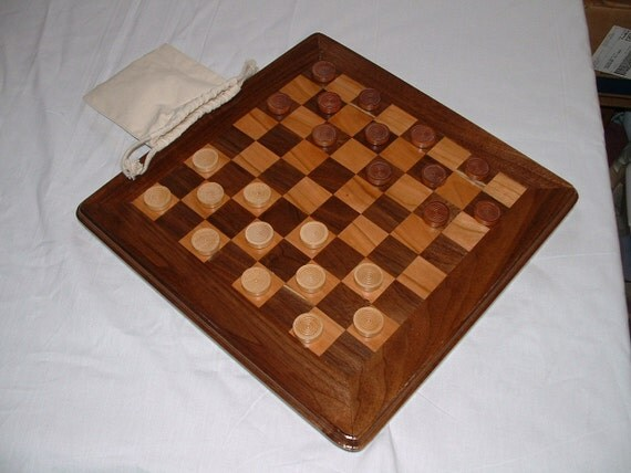 CHECKER/CHESS BOARD with storage bag