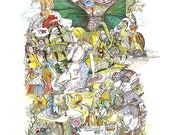 Alice in Wonderland Jabberwocky Picnic