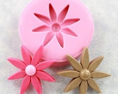 Retro Flower Mold Mould Polymer Clay Mold Resin Mold Chocolate Fondant Sugar PMC (313)
