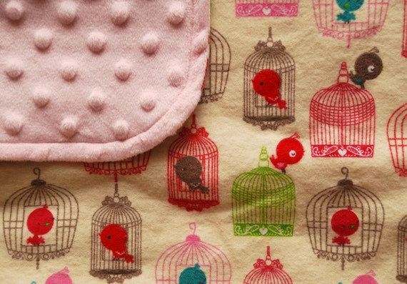Sweet pink baby girl blanket - Cage Free