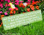 Adoption Creed plaque 5x20 can match colors of any child's nursery