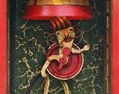 Matilda the Mustachioed Lady - Print on Wood Block