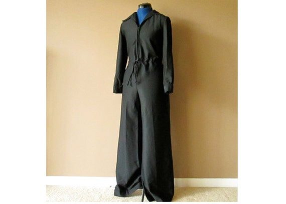 Black Jumpsuit, size medium or small (40 bust, 28 waist)