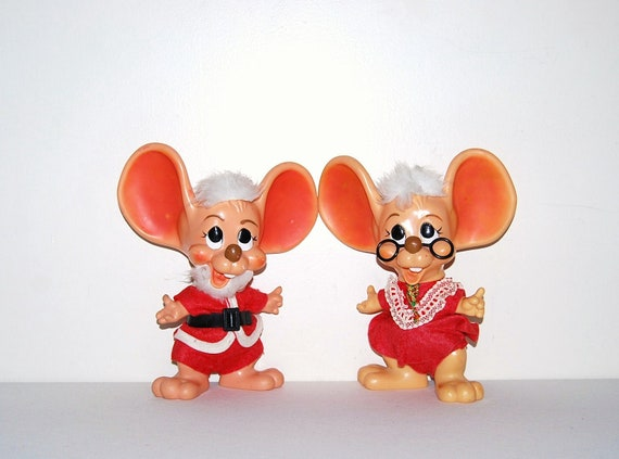 Vintage Christmas Mice Banks