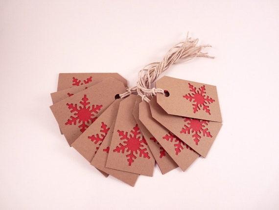 Snowflake Christmas Gift Tags - Set of 10