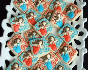 Mermaid cookies - 2 dozen under the sea cookies - nautical cookies - decorated cookie favors - birthday cookies