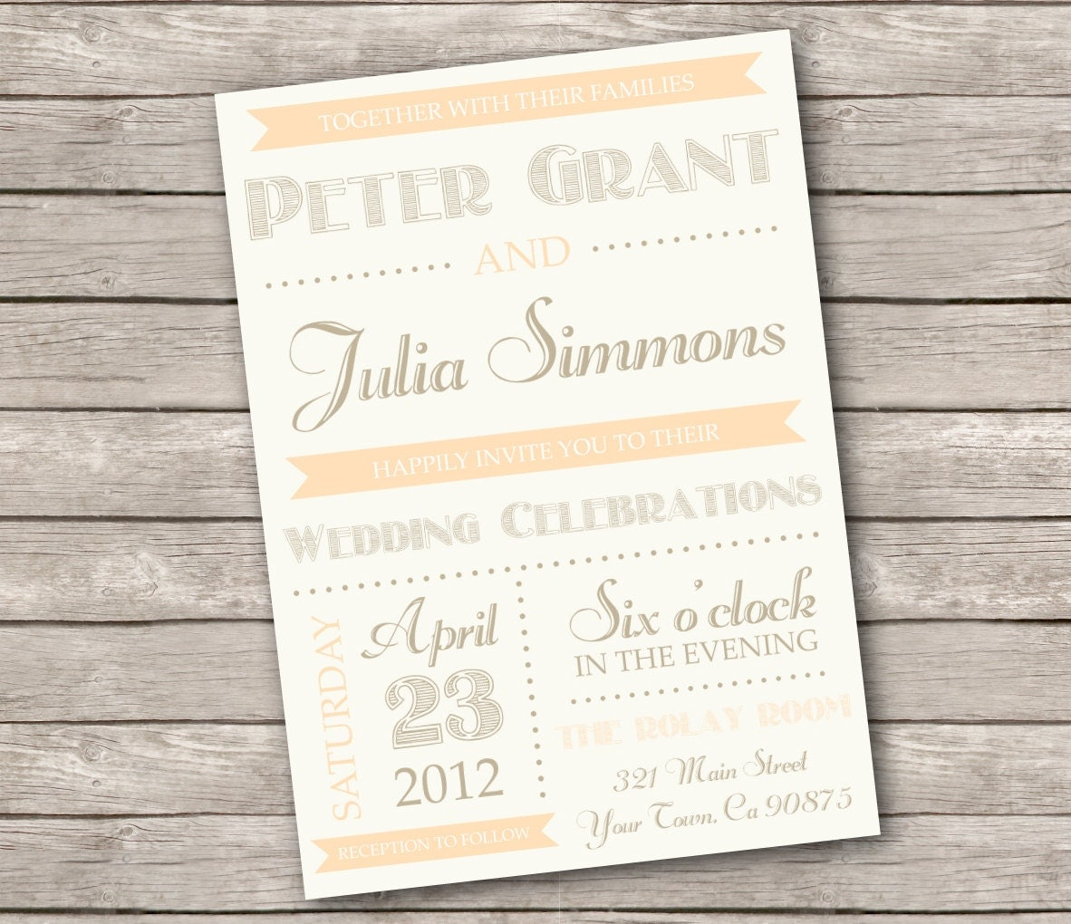 Wedding Invitations Country Chic 28 Images Items Similar To