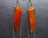 Carnelian chain earrings