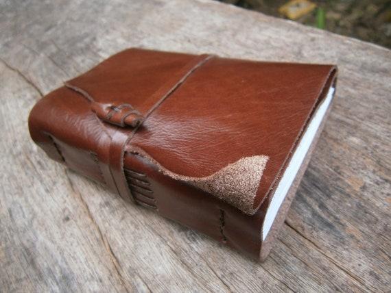 "Handmade Leather Journal / 6x4"" /  Free Initials"