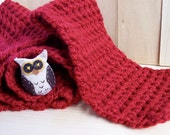 Owl Red Scarf
