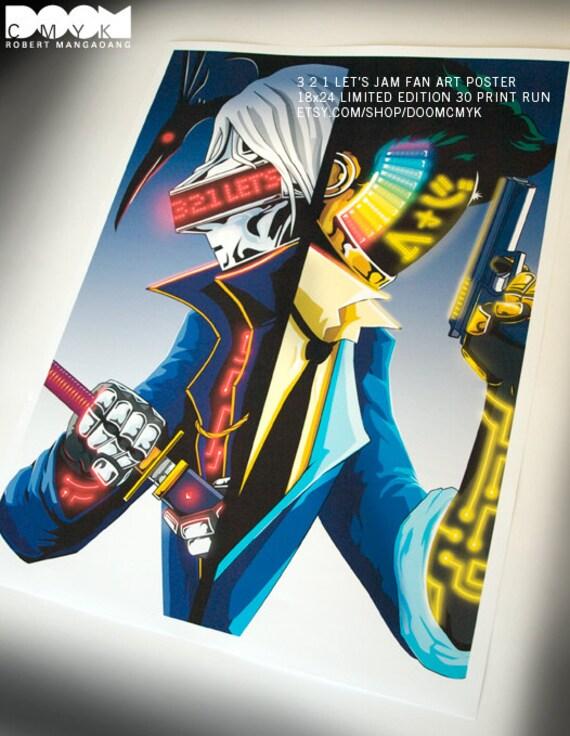 3 2 1 Let's Jam Fan Art Poster 18x24 Print Number 24