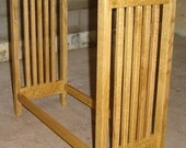 Hand Crafted Custom Made NEW Solid Quarter Sawn Oak Wood Mission Style Quilt Rack Stand